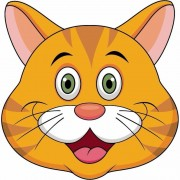 Shoppartners Oranje kat maskertjes voor kinderen