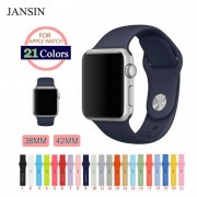 Apple JANSIN Silicon Band for Apple Watch band 42mm 38mm Series 3 2 1 Replacement sport wrist belt Watch Strap for iwatch