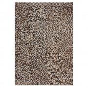 Echtfell Teppich mit Patchworkmuster modern