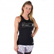 Gorilla Wear Florence Tank Top - Black/Silver - XS