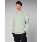 Ben Sherman Signature Pale Green Signature Cotton Crew Neck Jumper Large Light Green