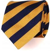 Krawatte Goldene - Navy Streifen FD17 - Dunkelblau