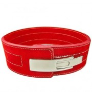 C.P. Sports Powerlifting Lever Belt, Red