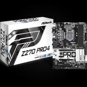 MB, ASRock Z270 PRO4 /Intel Z270/ DDR4/ LGA1151