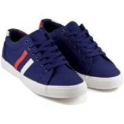DeVEE Be Anthony Double Striped Navy Canvas Shoes(Navy)