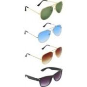 Iconicshades Wayfarer, Aviator Sunglasses(Green, Blue, Brown, Black)
