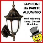 LAMPIONE PARETE IN ALLUMINIO ROUND DORATO