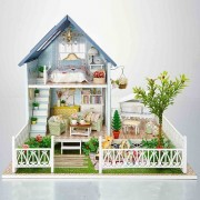 SEPTEMBER DIY Exclusive villa Doll's house And Wooden Furniture Houses With Warm For Creative Wedding Birthday Gift
