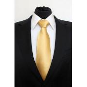 Pánská zlatá klasická kravata - 8 cm