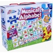 Puzzle de podea muzical - Alfabetul vesel - 30 piese