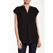 Pleione Short Sleeve Kim Blouse BLACK