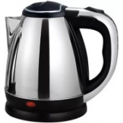 Lagom MS -87 Hot Water Pot Portable Boiler Tea Coffee Warmer Heater Cordless Electric Kettle Electric Kettle(1.8 L, Silver)