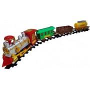 Jucarie Set Tren pe Sine cu Lumini Aburi si Sunete SALAMANDRA KIDS R