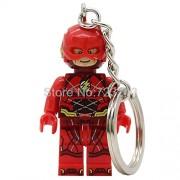 Generic Super Hero Superman Bizarro Figure Keychain Cyborg The Flash Aquaman Scott Free Batman Mr Miracle Building Blocks Model Toys The Flash