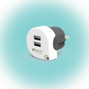 "dupla USB töltő ""Dual USB Charger 2.4A Europe"" Q2"