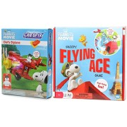 The Peanuts Movie Snoopy Flying Ace Game + Lite Brix The Peanuts Movie Olaf's Biplane Lights Up with Figure