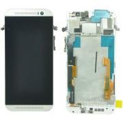 Дисплей + Тъч скрийн + Рамка за HTC One M8 Бял