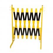 Scherengitter mit 2 Standfüßen gelb / schwarz, Länge max. 4000 mm