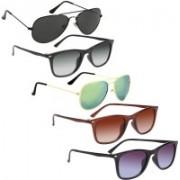 David Martin Aviator Sunglasses(Black, Grey, Green, Brown)