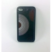 Capa case para celular iPhone 4 ou iPhone 4s Leather - ref C