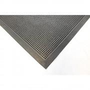Gummi-Allwettermatte schwarz LxB 1000 x 800 mm