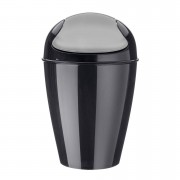 KOZIOL Odpadkový koš DEL M, 12 l- barva černá, KOZIOL
