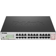 Switch D-LINK DGS-1100-24P, 24-Port Gigabit Switch, 12x PoE Ports