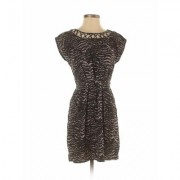 Bebop Casual Dress - Mini: Black Animal Print Dresses - Used - Size Small