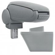 Подлакътник [pro.tec]® Opel Meriva A с контейнер за съхранение, Текстил, Сив