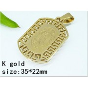 Медальон Богородица изработен от медицинска стомана 316L (DCP22775)