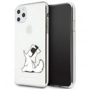 Karl Lagerfeld Choupette Fun iPhone tok (átlátszó) - 11 Pro Max