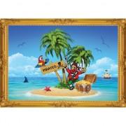 Geen Piraten wandversiering poster eiland