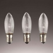 E10 3 W 16 V candle bulbs in a set of 3