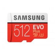 Card memorie Samsung MB-MC512HA EU , Micro-SDXC, EVO Plus, 512GB, rata transfer r w 100 90 MB s, Class 10, UHS-I, (Adaptor SD inclus)