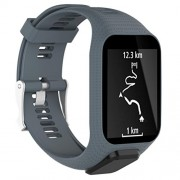 Memela(TM Replacement Silicone Band Strap for Tomtom Spark / 3 Sport GPS Watch (Gray)