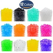 Hosim Water Beads, 20000pcs 12 Colors 10g per Pack Colorful Magic Growing Jelly Pearls Balls for Orbeez Spa Refill, Kid Tactile Sensory Toys, Furniture Decorative Vase Filler and Wedding Decor 24 Pack