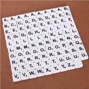 100pcs Scrabble Tiles English Letters Black / White Font For Kids