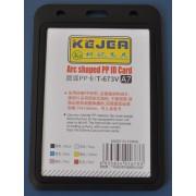 Suport PP tip arc, pentru carduri, 74 x 105mm, orizontal, 5 buc/set, KEJEA - negru