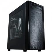 "Carcasa Segotep X1 neagra, SPCC Steel ATX Mid Tower, fara sursa (tip ATX, montata jos), power cover, interior vopsit negru, filtru de praf pentru tavan, 1x5.25"" (intern), 2x2.5"" (intern), 3x2.5"" (intern)"