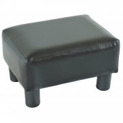 HOMCOM PU Leather Ottoman Footrest-Black