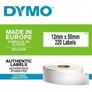 Etichete termice DYMO LabelWriter dosare suspendate permanente 12mmx50mm hartie alba 1 rola cutie 220 etichete rola 99017 S0722460