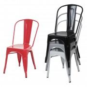 Stuhl HWC-A73, Bistrostuhl Stapelstuhl, Metall Industriedesign stapelbar ~ Variantenangebot
