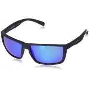 Arnette AN4253 Prydz anteojos de sol rectangulares para hombre, Espejo de goma azul/verde azul claro., 61 mm