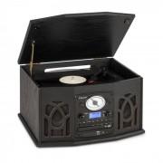 Auna NR-620 DAB equipo de música madera tocadiscos DAB+ reproductor de CD negro