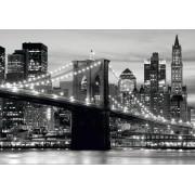 Fototapeta čiernobiele mesto FTNS 2465 Brooklynský most, vliesová , 360x270 cm - 4 dielna
