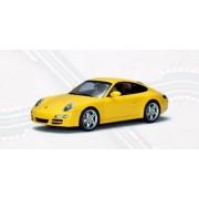 AUTOart 1:32 Slot Car Porsche 911 (997) Carrera S Yellow with Lighting Lamps