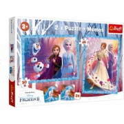 Pachet 2 x puzzle desene animate Frozen 54 piese Topi Dreams