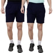 PANCHKOTI Mens PC Cotton Combo Sport Shorts (Pack Of 2)
