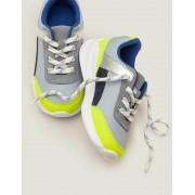 Mini Blau Sneaker mit Blockfarben Jungen Boden, 37, Multi