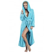 Diana hosszú női bolyhos fürdőköpeny, türkiz 3XL